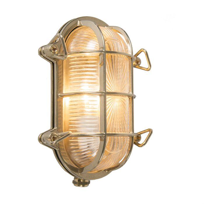 Aplique-retro-dorado-23cm-IP44---NAUTICA-ovalada
