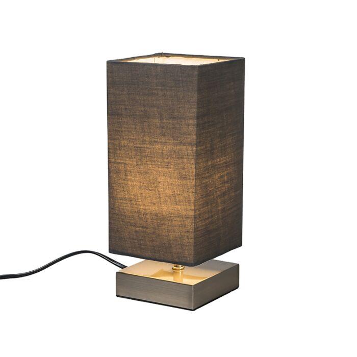 Lámpara-de-mesa-moderna-gris-acero---MILO