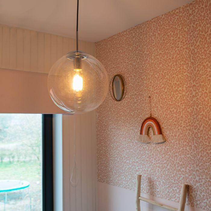 Lámpara-colgante-escandinava-cromo-cristal-transparente---BALL-30