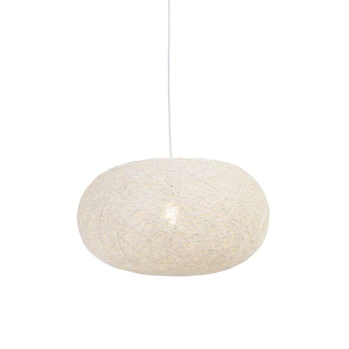 Lámpara-colgante-rústica-blanca-50cm---CORDA-Flat