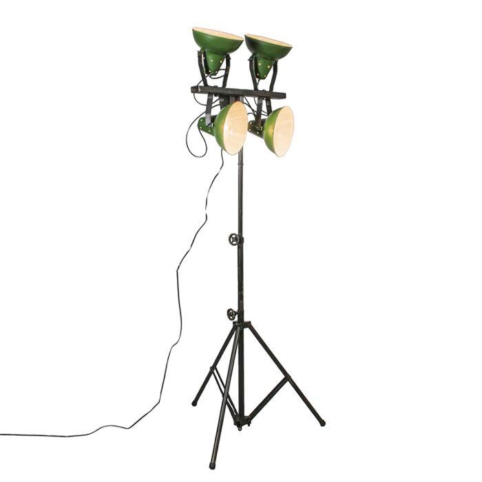 Lámpara-de-pie-PEDESTAL-verde