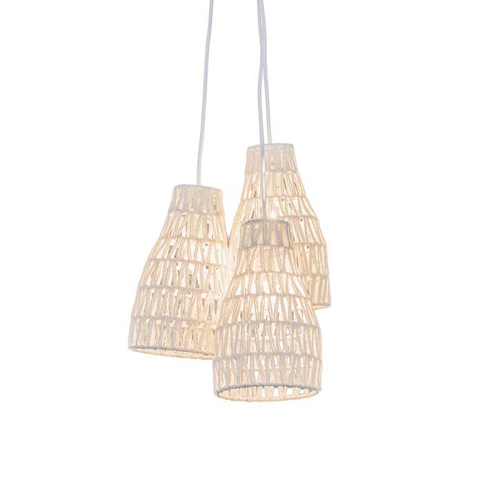 Lámpara-colgante-retro-blanco-35cm---LINA-3