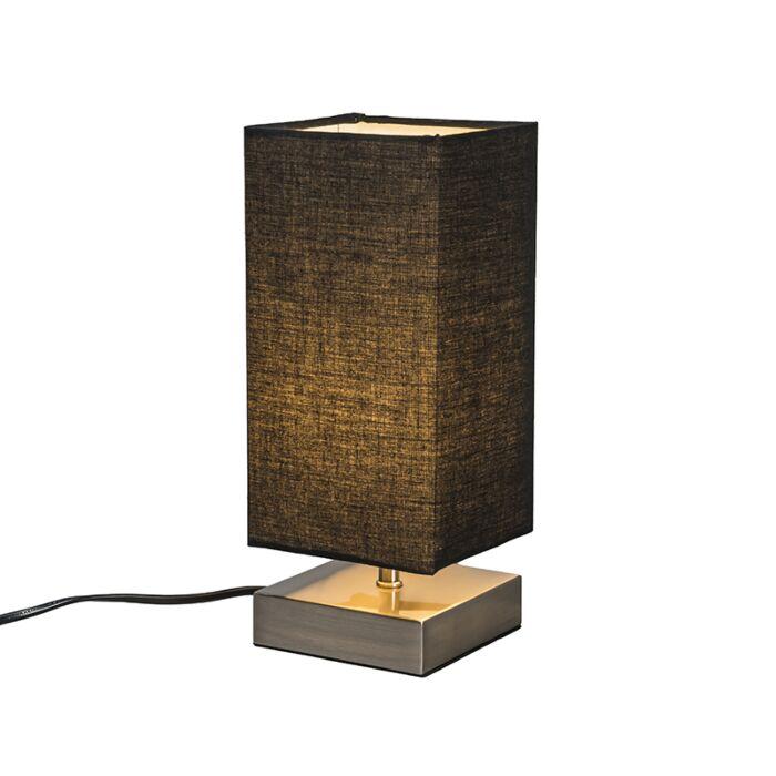Lámpara-de-mesa-moderna-negra-acero---MILO