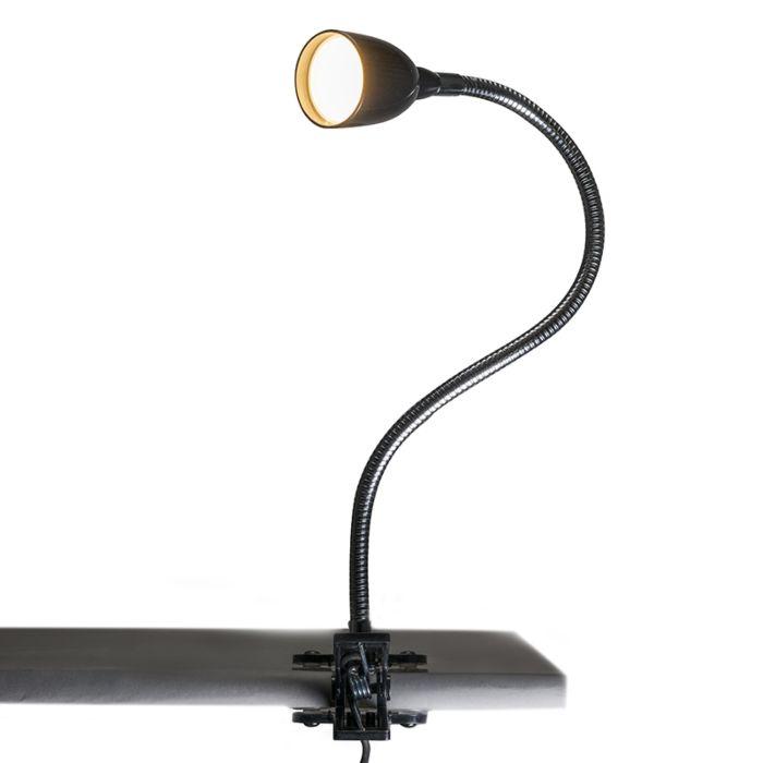 Lámpara-de-pinza-FLEX-negra-LED