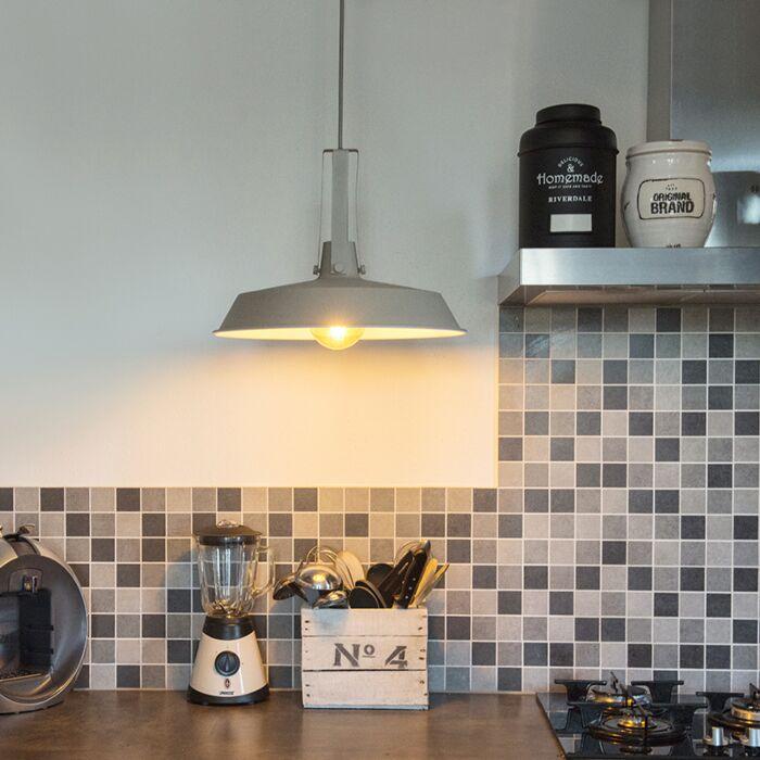 Lámpara-colgante-LIVING-40cm-marrón-grisáceo