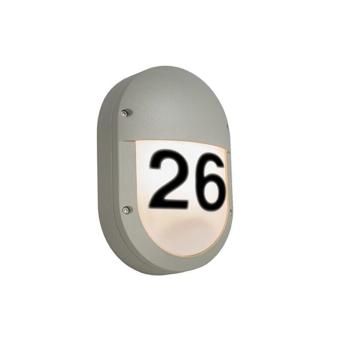 Aplique-GLOW-óvalo-2V-gris-claro-con-números