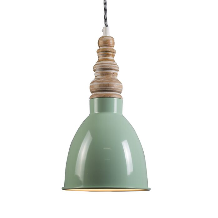 Lámpara-colgante-OAK-verde-menta
