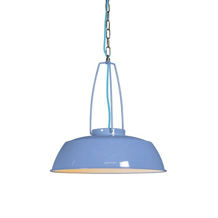 Lámpara-colgante-USINE-azul