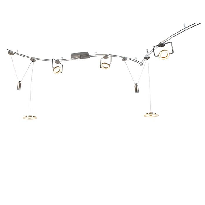 Plafón-con-focos-3-CHAOS-acero-LED
