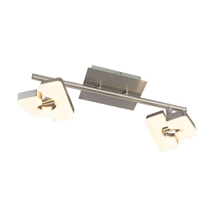 Plafón-moderno-acero-LED--TWIN-2