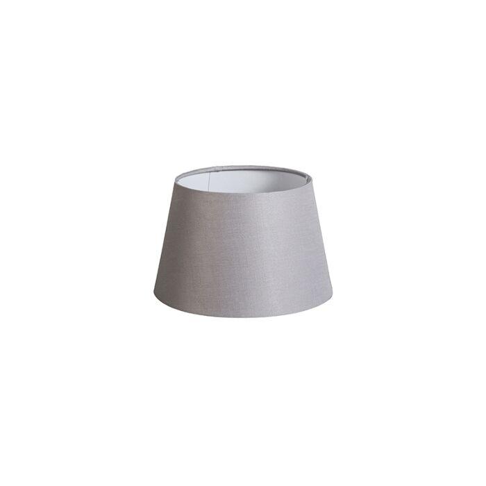 Pantalla-20cm-cónica-DS-E27-lino-gris-claro