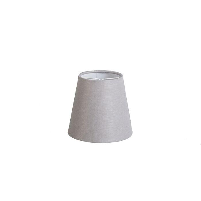 Pantalla-de-gancho-12cm-cónica-SC-lino-gris-claro