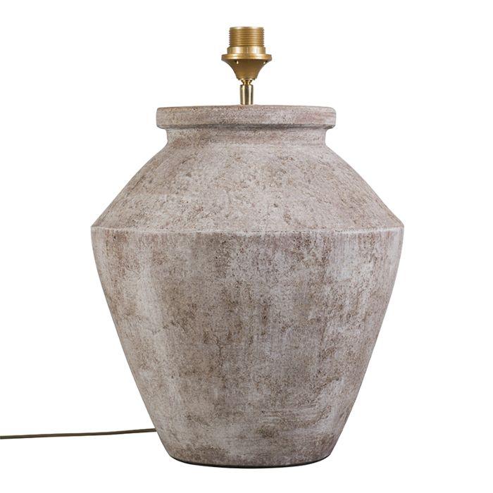 Lámpara-de-mesa-PINA-marrón-escocés