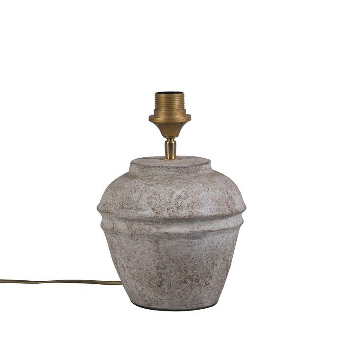 Lámpara-de-mesa-ARTA-XS-marrón-escocés