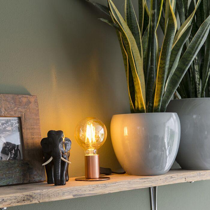 Lámpara-de-mesa-romántica-cobre---FACIL