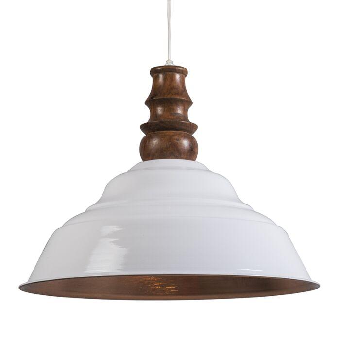 Lámpara-colgante-GLAM-blanco-y-cobre