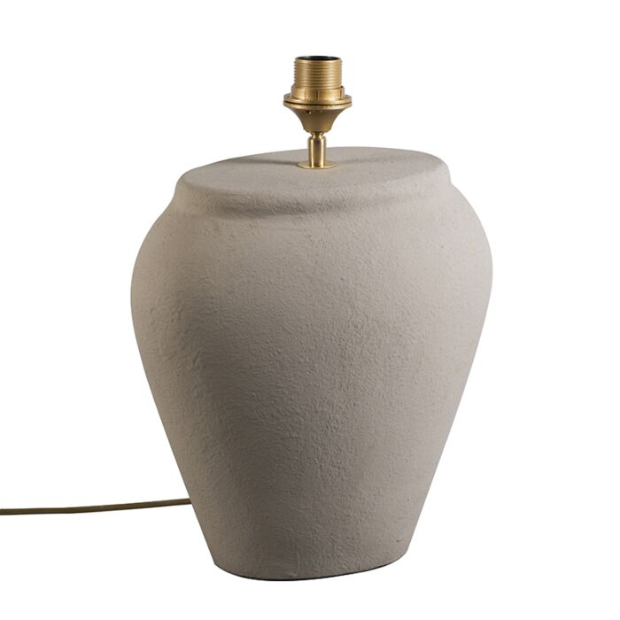 Lámpara-de-mesa-BLAVA-ovalada-gris