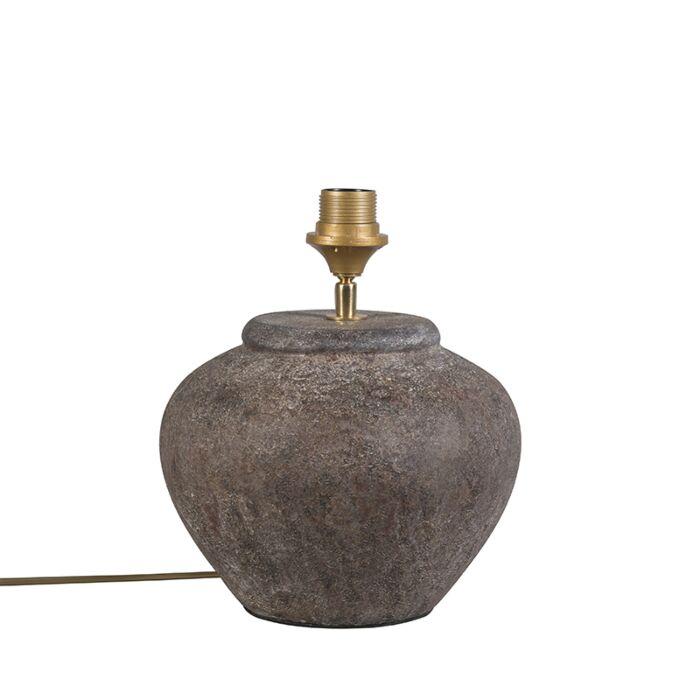Lámpara-de-mesa-rústica-marrón---PALMA-XS-Vintage
