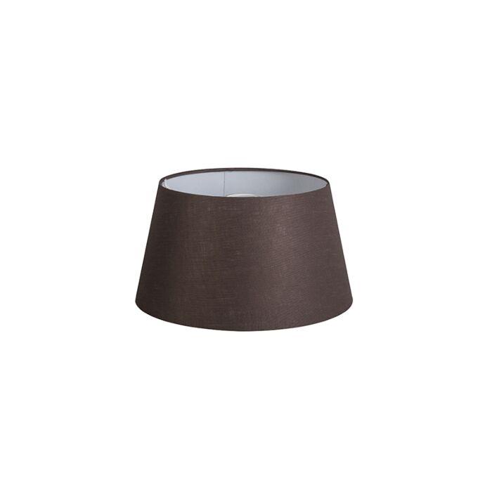 Pantalla-32cm-cónica-DS-E27-lino-marrón