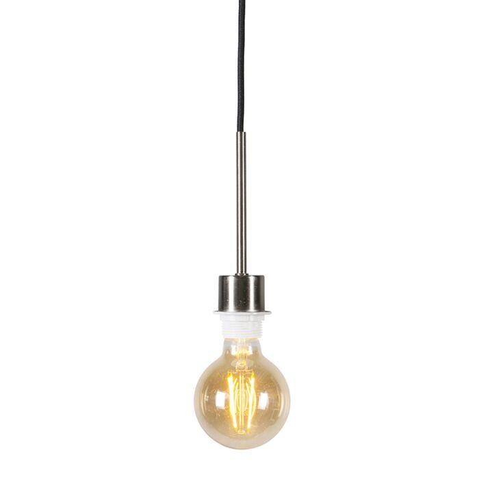 Lámpara-colgante-acero-cable-negro---COMBI-1