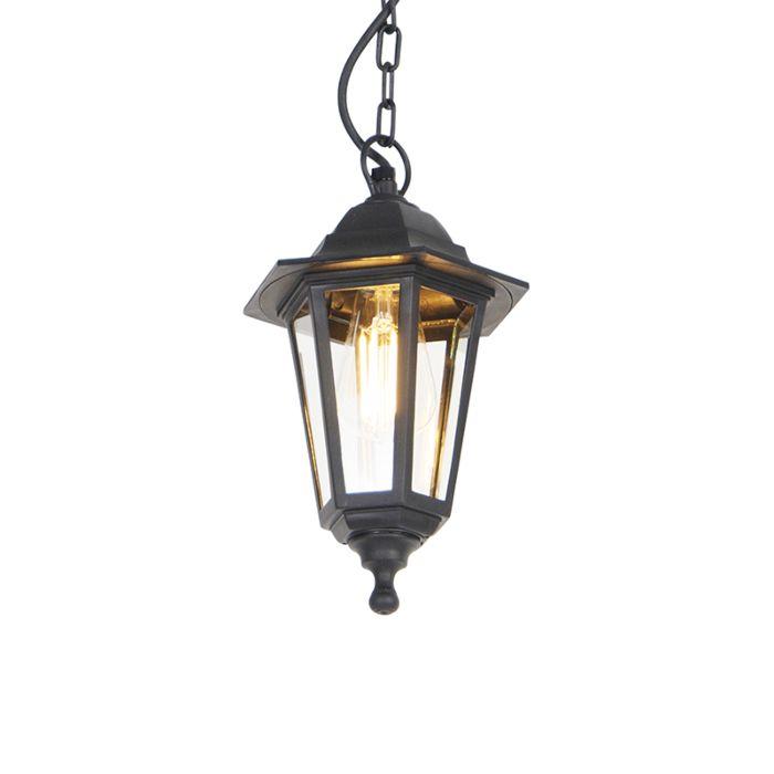 Lámpara-colgante-romántica-negra-IP44---NEW-HAVEN