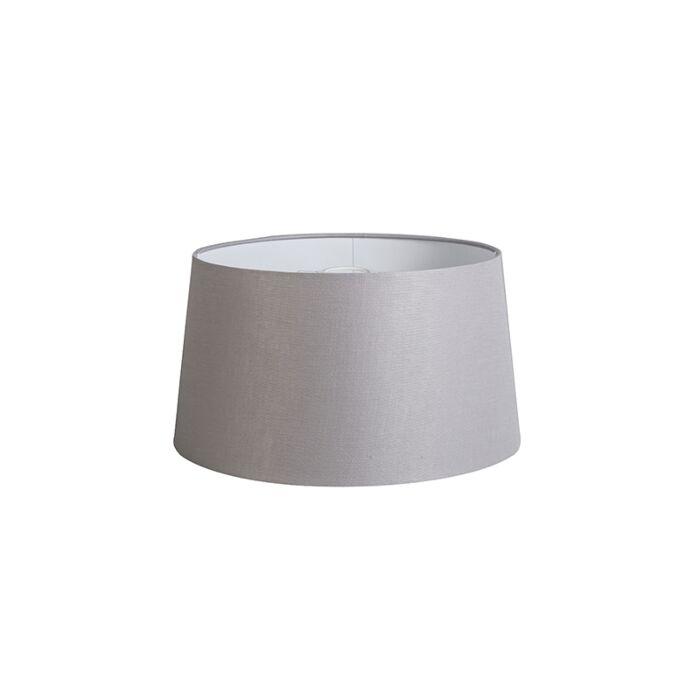 Pantalla-40cm-cónica-DS-E27-lino-gris-claro