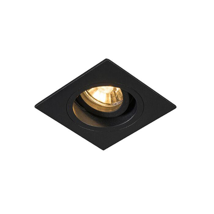 Foco-empotrable-moderno-negro-9,3cm-orientable---CHUCK