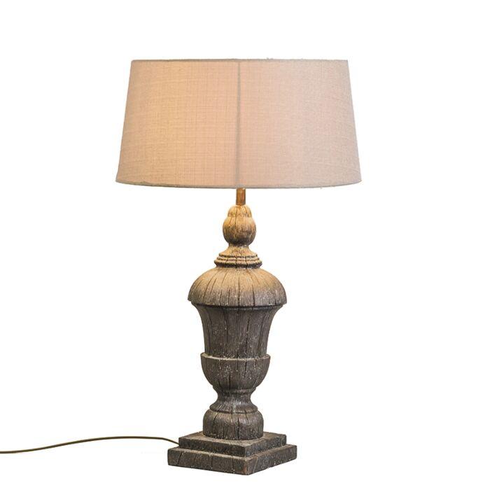 Lámpara-de-mesa-TOTEM-con-pantalla-crema
