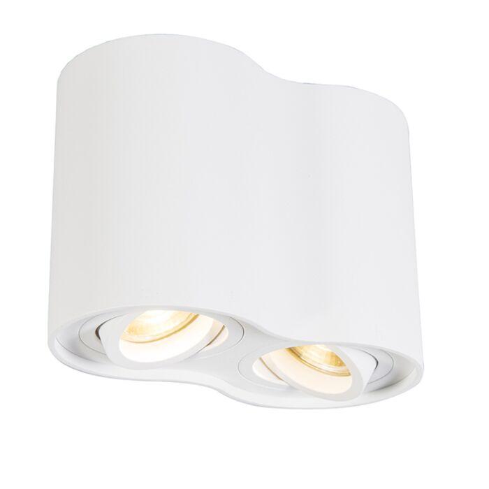 Foco-moderno-blanco-orientable---RONDOO-Duo