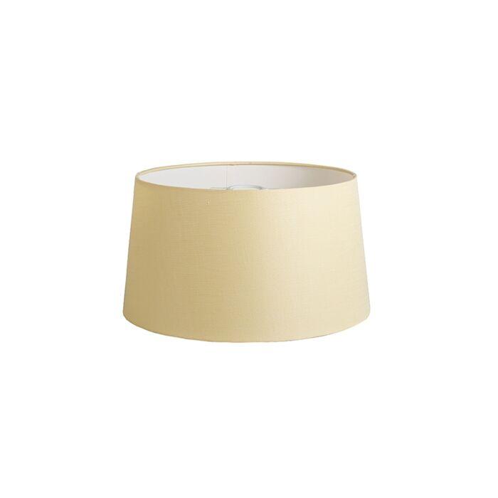 Pantalla-40cm-cónica-DS-E27-lino-crema