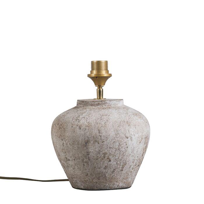 Lámpara-de-mesa-clásica-piedra-marrón---INCA-XS