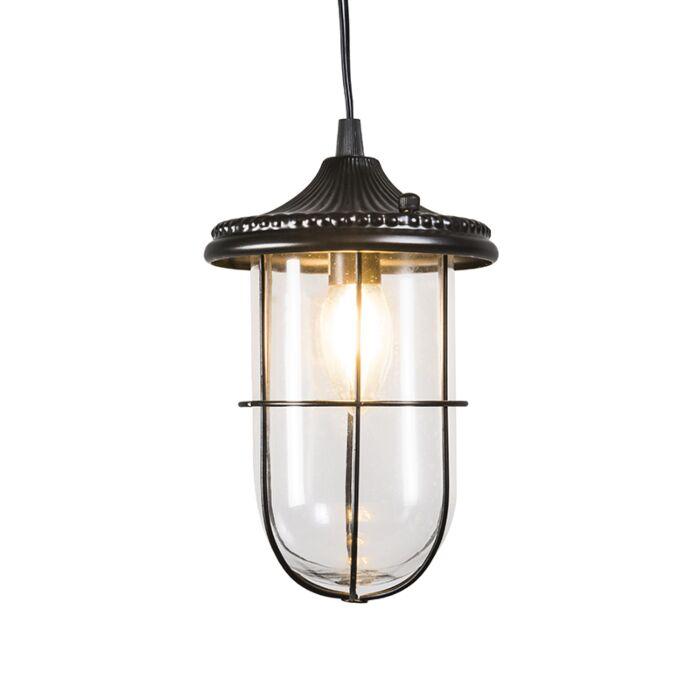 Lámpara-colgante-vintage-negra-vidrio---PORTO