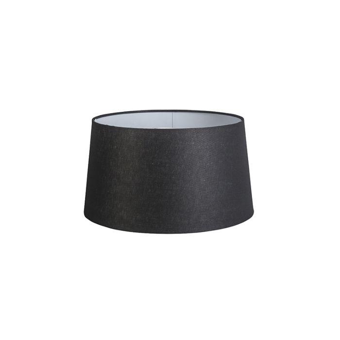 Pantalla-40cm-cónica-DS-E27-lino-negra