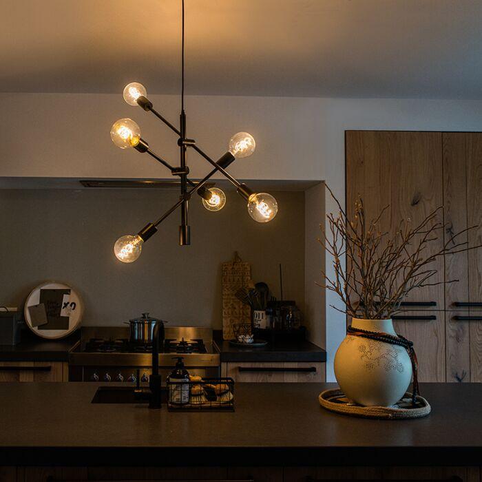 Lámpara-colgante-industrial-negra-6-luces---SYDNEY