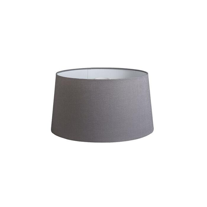 Pantalla-40cm-cónica-DS-E27-lino-gris-oscuro