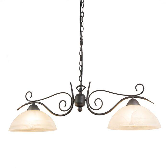 Lámpara-colgante-rústica-óxido-cristal---DALLAS-2