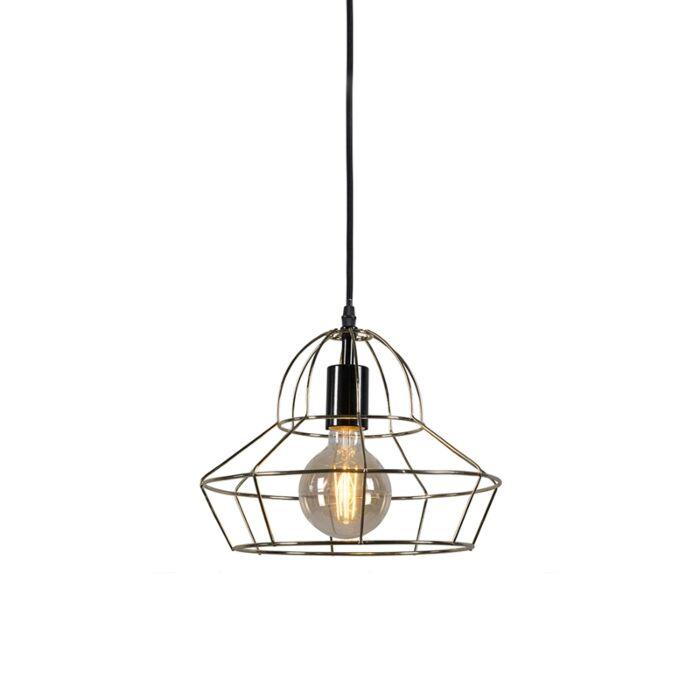 Lámpara-colgante-FRAME-D-oro