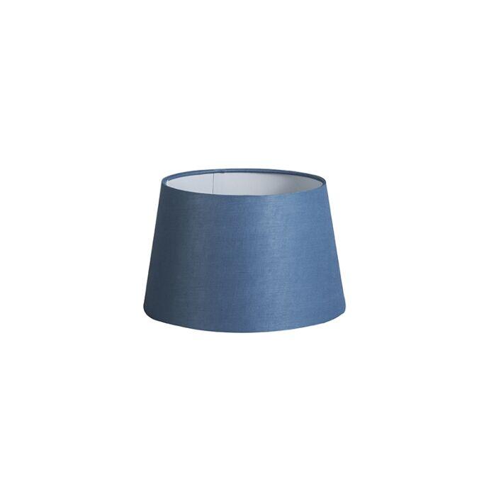 Pantalla-25cm-cónica-DS-E27-lino-azul