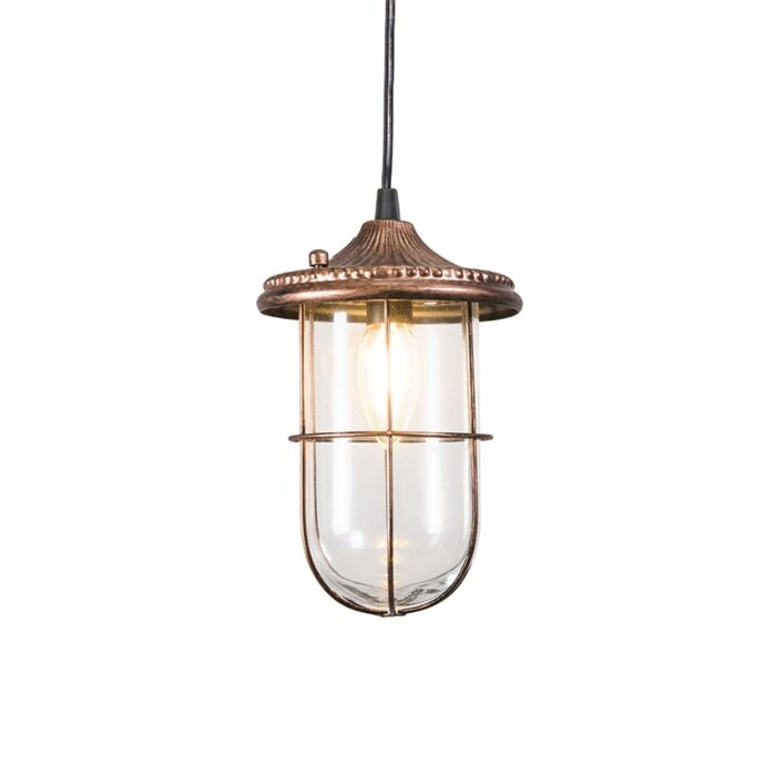 Lámpara-colgante-vintage-oxidado-cristal---PORTO