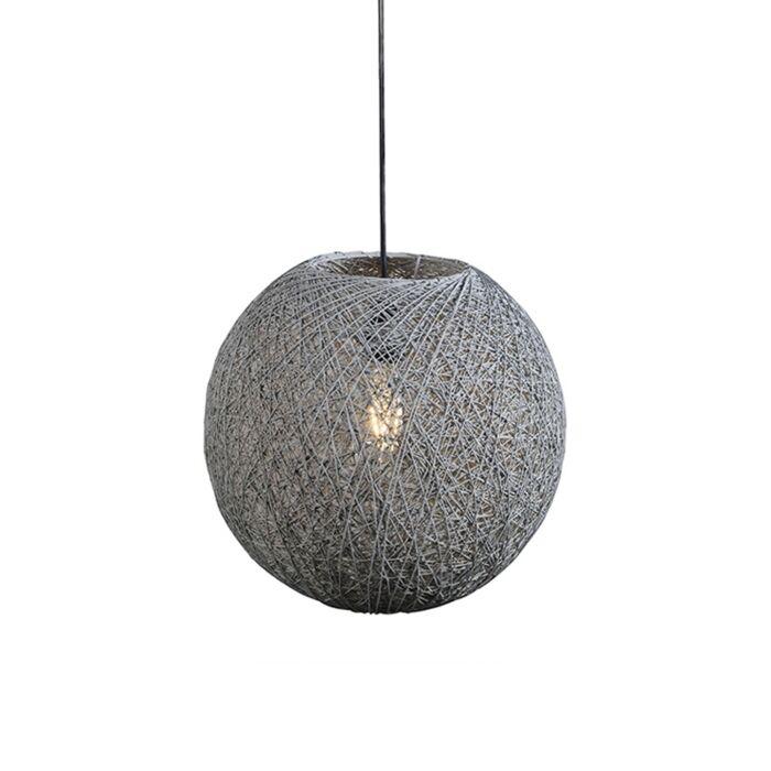 Lámpara-colgante-rústica-gris-35-cm---CORDA