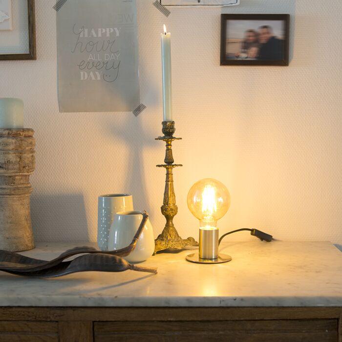 Lámpara-de-mesa-Art-Deco-dorada---FACIL-
