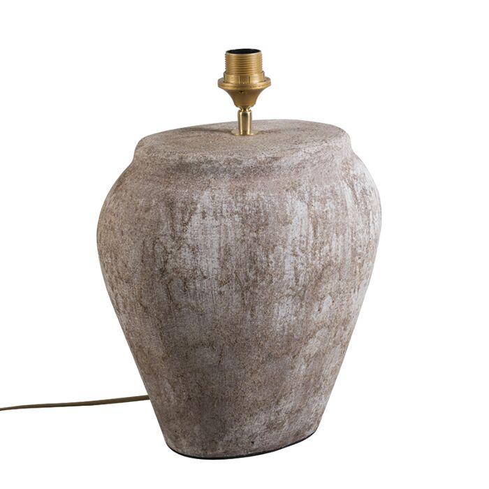 Lámpara-de-mesa-BLAVA-ovalada-marrón-escocés