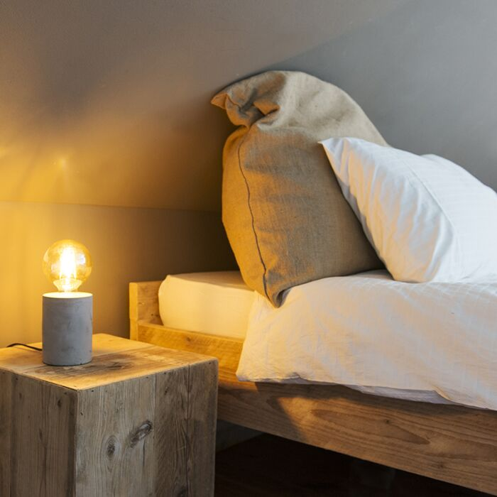 Lámpara-de-mesa-moderna-gris---BLOQUE