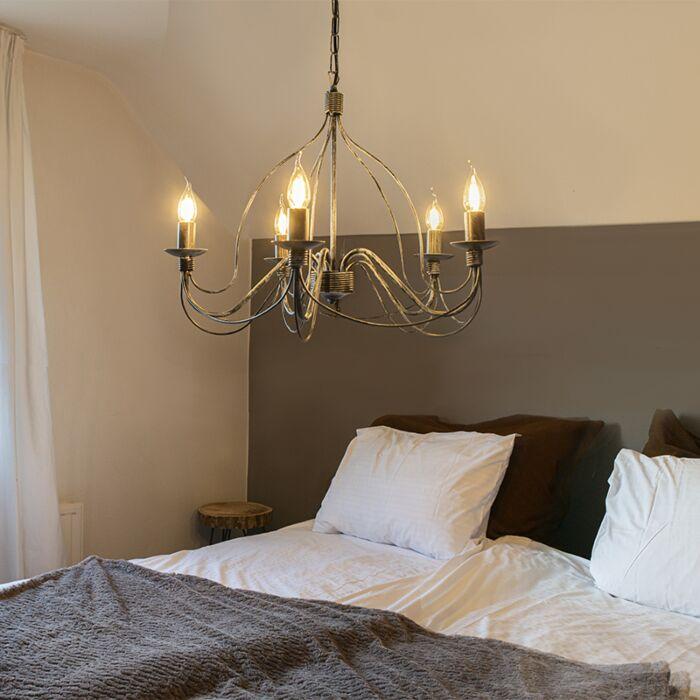 Lámpara-de-araña-clásica-gris---ZERO-BRANCO-5