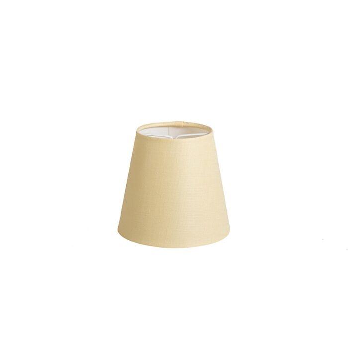 Pantalla-de-gancho-12cm-cónica-SC-lino-amarilla