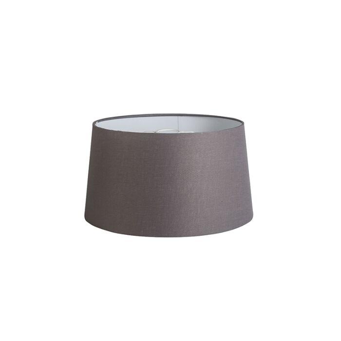 Pantalla-40cm-cónica-DS-E27-lino-gris-marrón