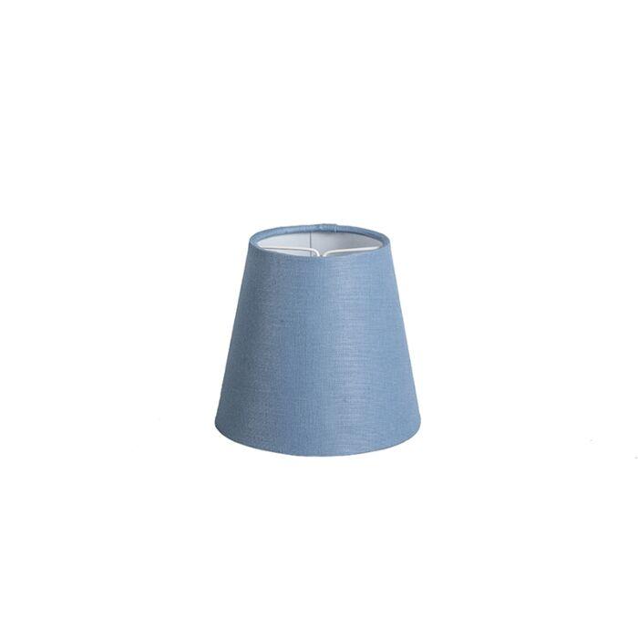 Pantalla-de-gancho-12cm-cónica-SC-lino-azul