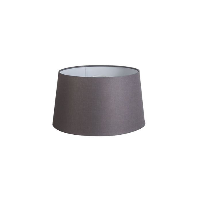 Pantalla-35cm-cónica-DS-E27-lino-gris-marrón