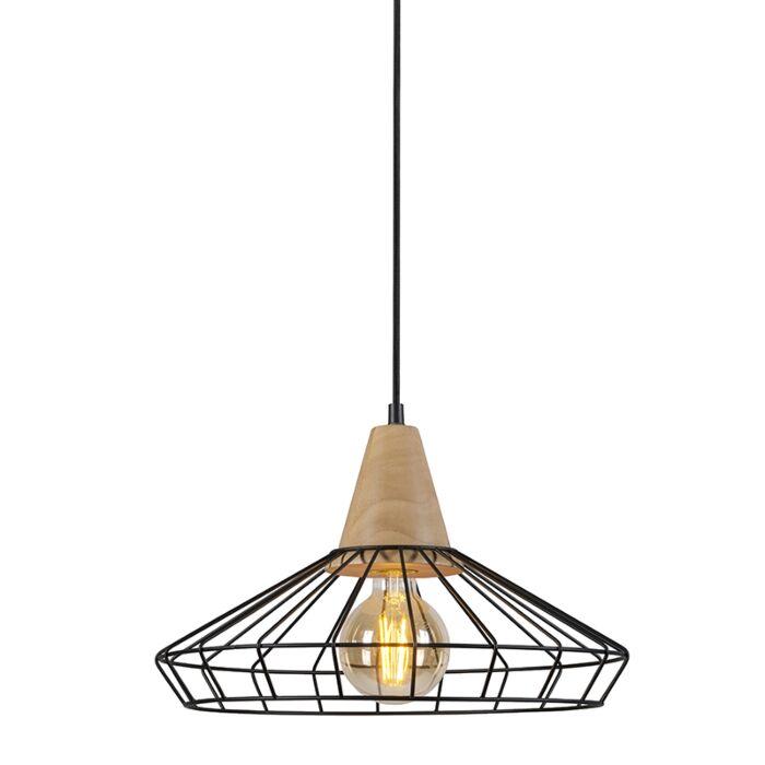 Lámpara-colgante-FRAME-madera-2-negra