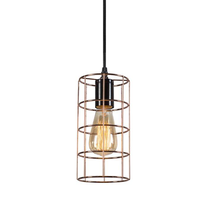 Lámpara-colgante-FRAME-C-cobre